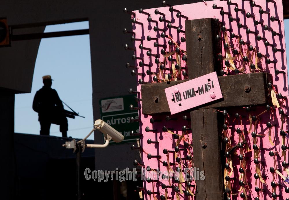 Juarez Art Activist created this installation at the border